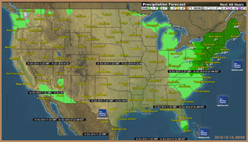 US precipitation forecast thumbnail
